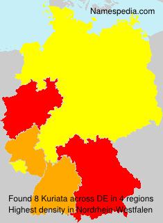 Surname Kuriata in Germany