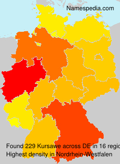 Familiennamen Kursawe - Germany