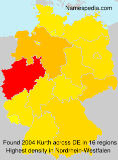 Surname Kurth in Germany