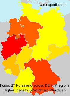 Surname Kurzawski in Germany