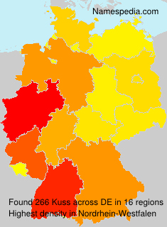 Surname Kuss in Germany