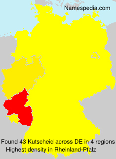 Surname Kutscheid in Germany