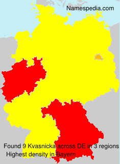 Familiennamen Kvasnicka - Germany