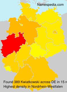 Surname Kwiatkowski in Germany