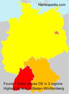 Surname Kwiet in Germany