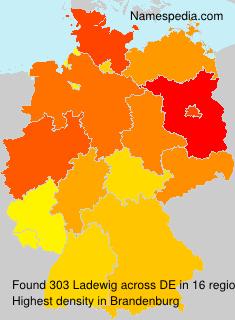 Surname Ladewig in Germany