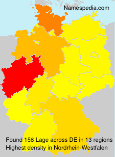 Surname Lage in Germany