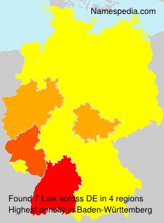 Familiennamen Laik - Germany