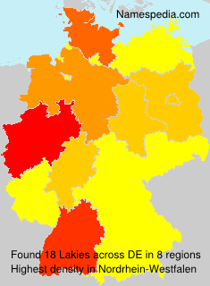 Surname Lakies in Germany