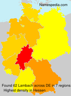 Surname Lambach in Germany