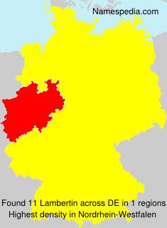 Familiennamen Lambertin - Germany