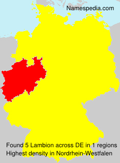 Surname Lambion in Germany