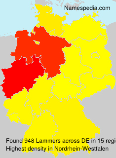 Surname Lammers in Germany