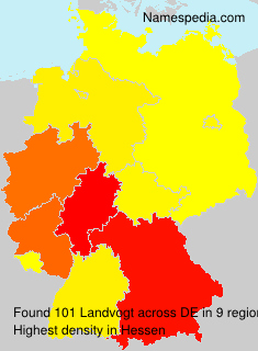 Surname Landvogt in Germany