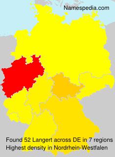 Surname Langert in Germany