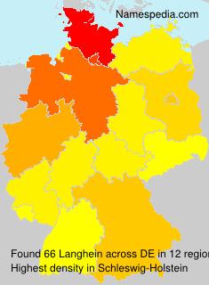 Familiennamen Langhein - Germany