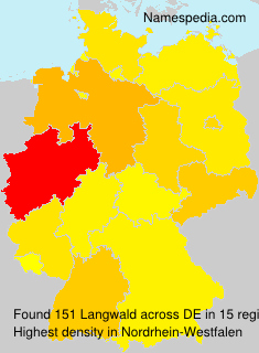 Surname Langwald in Germany