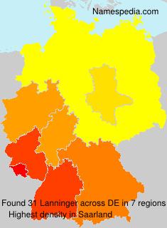 Surname Lanninger in Germany