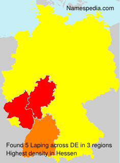 Surname Laping in Germany