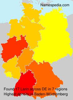 Familiennamen Larin - Germany