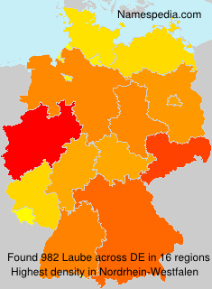 Surname Laube in Germany