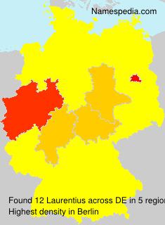 Familiennamen Laurentius - Germany