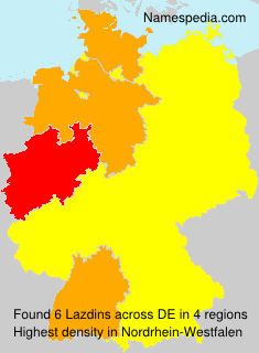 Surname Lazdins in Germany