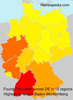Surname Leber in Germany