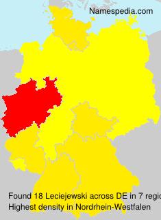 Surname Leciejewski in Germany