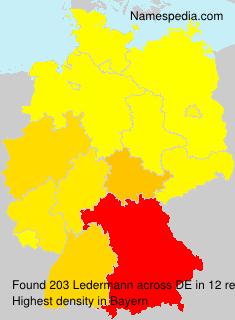 Familiennamen Ledermann - Germany