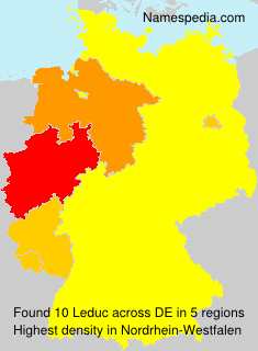 Surname Leduc in Germany