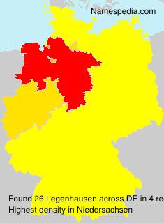 Surname Legenhausen in Germany