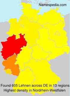 Surname Lehnen in Germany