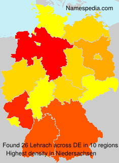 Surname Lehrach in Germany