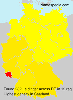 Surname Leidinger in Germany