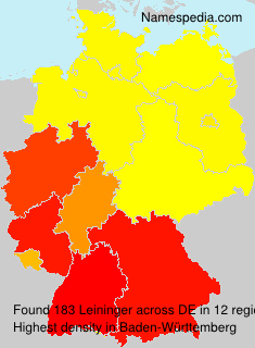 Surname Leininger in Germany