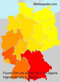 Surname Leis in Germany