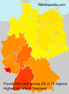 Surname Leist in Germany