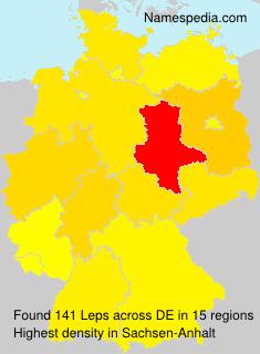 Familiennamen Leps - Germany