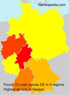 Familiennamen Leski - Germany