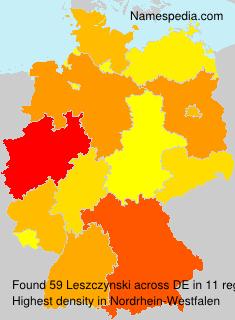 Surname Leszczynski in Germany