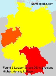 Familiennamen Letzbor - Germany