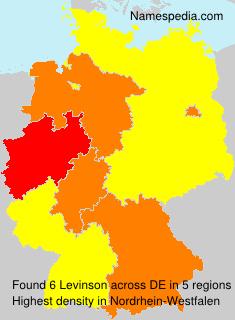 Familiennamen Levinson - Germany