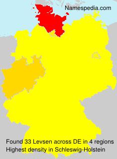 Familiennamen Levsen - Germany