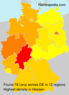 Surname Levy in Germany