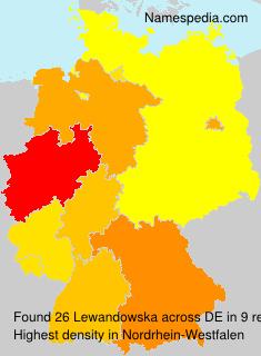 Surname Lewandowska in Germany