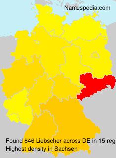 Familiennamen Liebscher - Germany