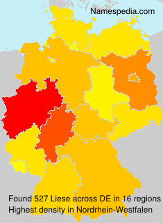 Surname Liese in Germany