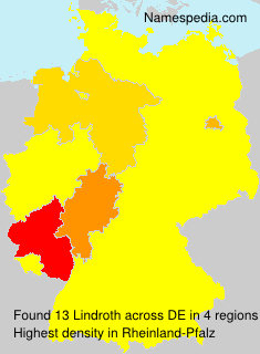 Surname Lindroth in Germany