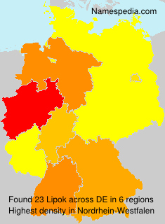 Surname Lipok in Germany